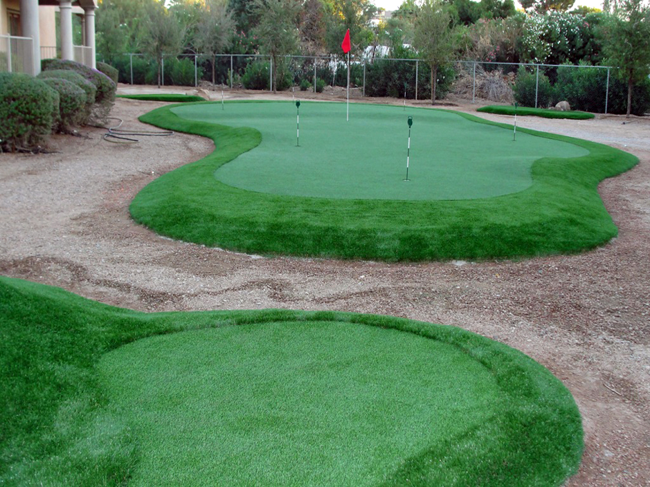 Fake Lawn Goodyear Arizona Backyard Putting Green Landscaping Ideas